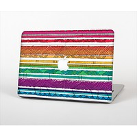 """The Crayon Colored Doodle Patterns Skin Set for the Apple MacBook Pro 15"""" with Retina Display"""