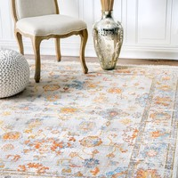 nuLOOM Mallie Faded Fringe Area Rug