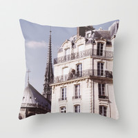 Notre Dame Hiding Throw Pillow by Pati Designs