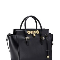 Versace - Signature Lock Large Handbag