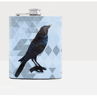 Galaxy crow hip flask - Gift for him - Hip flask - 21st Birthday gift - Gift for men - Blue