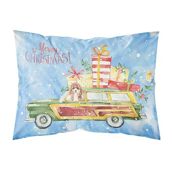 Merry Christmas Cavapoo Fabric Standard Pillowcase CK2403PILLOWCASE