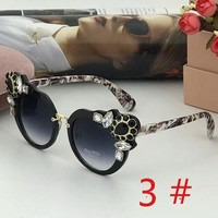Miu Miu Women fashion new polarized more diamond gem glasses eyeglasses