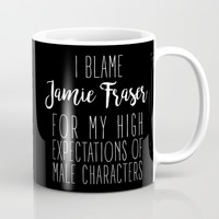 High Expectations - Jamie Fraser Black Mug by The Bookish Dreams
