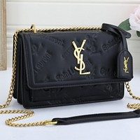 YSL Women Leather Satchel Crossbody Handbag Shoulder Bag