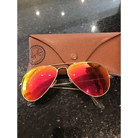 ray ban sunglasses aviator- Orange