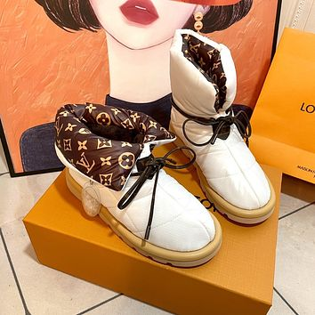 LV  2021 autumn and winter new LV down boots