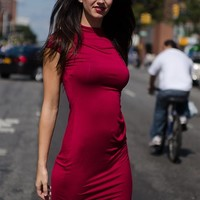 In Charge In Style Short Sleeve Midi Dress - Burgundy from A Ellen at Lucky 21