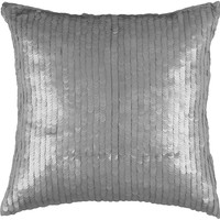 """Sequins Silver Pillow Cover (18"""" x 18"""")"""