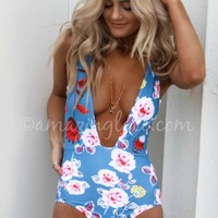 Head Games Deep V One Piece Swimsuit
