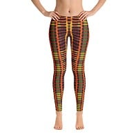 African Inspired Kente Print Leggings