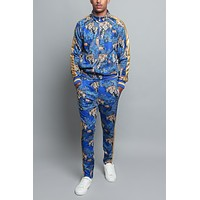 Royal Floral Tiger Track Suit