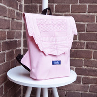 SAMPLE SALE Backpack rose quartz hipster backpack rucksack cycling bag waterproof small mini backpack Zurichtoren geometric simple minimal
