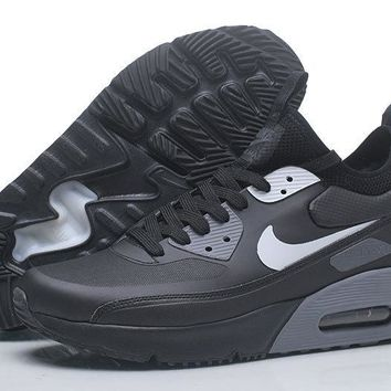 "Nike Air Max 90 Ultra Mid Winter ""Black&Grey"" Men Running Shoes Sneaker 924458-300-002"