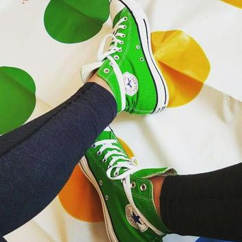 Converse All Star Sneakers Adult Leisure  High-Top Leisure shoes green