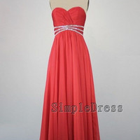 Real Beach Sweetheart Sleeveless Floor-length Chiffon Sequin Long Prom/Evening/Party/Bridesmaid/Formal/Homecoming Dress 2013 New Arrival