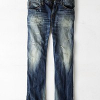 AEO Men's Original Straight Jean (Medium Tinted Repair)