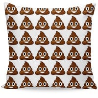 Poop Emoji Couch Pillow