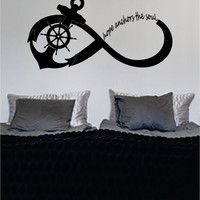 Hope Anchors the Soul Anchor Infinity Sign Nautical Ocean Beach Decal Sticker Wall Vinyl Art Decor