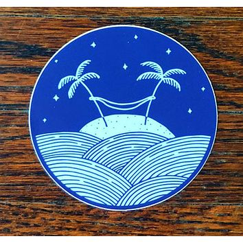 Palm Hammock - All weather vinyl sticker