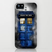 Tardis Doctor Who In The Mist apple iPhone 4 4s, 5 5s 5c, iPod & samsung galaxy s4 case
