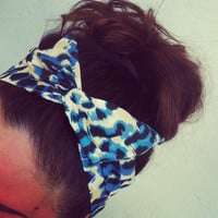 Leopard Print Dolly Bow Headband