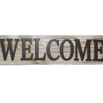 Welcome Wood Wall Home Decor