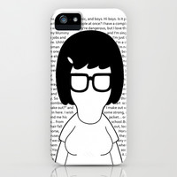 Tina Belcher with Quotes - Bob's Burgers iPhone & iPod Case by Hrern1313