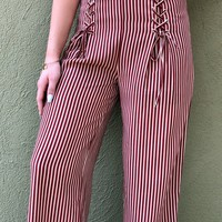 Go Noles Pants- Burgundy