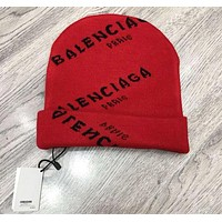 BALENCIAGA Autumn Winter Newest Popular Women Men Print Warmer Knit Hat Cap