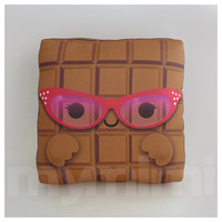 Food Pillow, Toy Chocolate Pillow, Chocolate Bar, Throw Pillow, Kawaii, Kids Room Decor, Dorm, Childrens Toys, 7 x 7""