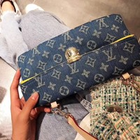 LV Louis Vuitton Hot Sale Women Leather Denim Satchel Crossbody Shoulder Bag