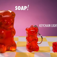 Large Gummy Bear Soap: Candy-scented bars of soap