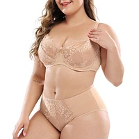 Sexy Lace Bra & Panty Skin Color Set