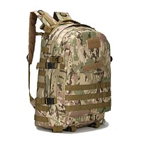 2017 Men Camouflage Backpack Military Survival Travel Bag Large Capacity