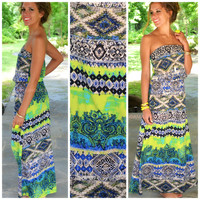 Parrot Bay Multicolored Maxi Dress
