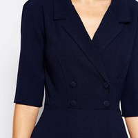 Love Tailored Double Breasted Dress at asos.com
