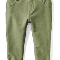 Cuffed French-Terry Jeggings for Baby | Old Navy