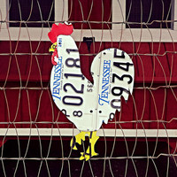 Upcycled Tennessee License Plate Rooster/Chicken Wall Art/Coop Decor