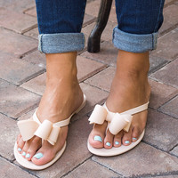 Italy Bow Jelly Sandals