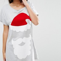 ASOS Christmas Santas Toys Oversized Sleep Tee at asos.com