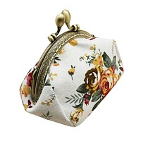 Luxury Women Lady Hasp Coin Purse Retro Vintage Flower Small Wallet Clutch Bag Girl's Handbag High Quality Perfect Gift *52