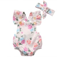 Baby Girl Summer Romper 2pc set