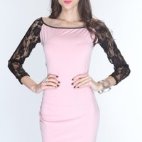 Lilac Off Shoulders Knee Length Party Dress