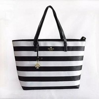ONETOW Kate Spade' Women Casual Fashion Multicolor Stripe High Capacity Water Bucket Bag Single Shoulder Bag Handbag