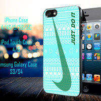 Nike Just Do it aztec pattern Samsung Galaxy S3/ S4 case, iPhone 4/4S / 5/ 5s/ 5c case, iPod Touch 4 / 5 case