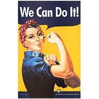 Rosie the Riveter We Can Do It! Poster 11x17