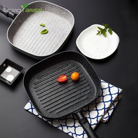 Frying Pan Lemorange 24cm Induction Cooker General Steak Egg Non-stick Panela Marble Coating BBQ Home Kitchenware TQQ0077