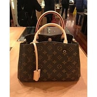 LV Louis Vuitton Stylish Women Print Leather Tote Crossbody Satchel Shoulder Bag Handbag I