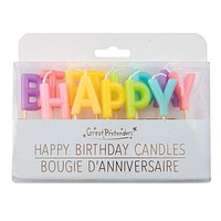 Happy Birthday Rainbow Candles